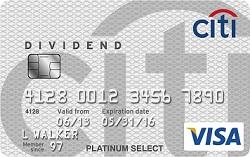 Citi Dividend Platinum Select Visa Card