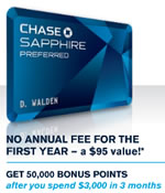 Chase Saphire Preferred Card Banner