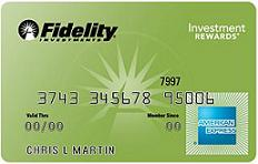 Fidelity Investment Rewards American Express Card