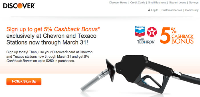 Discover card 5 back at chevron and texaco gas stations my money blog this is in addition to the standard 5 back categories on the discover it card currently 5 back on up to 1500 in purchases at restaurants and movies for reheart Images
