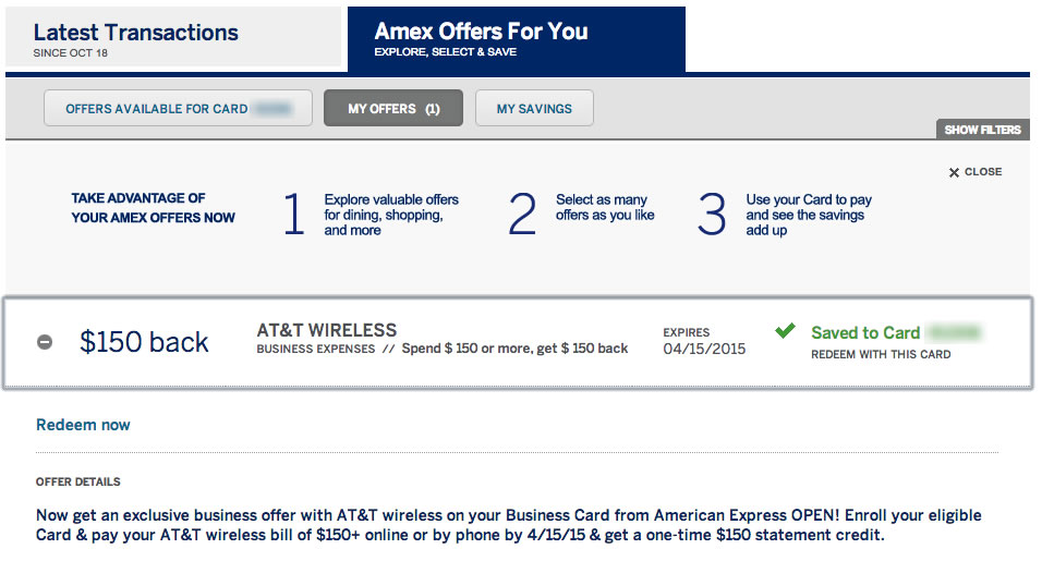 AmEx Small Business Card Offers: $150 off $150 AT&T Wireless — My ...