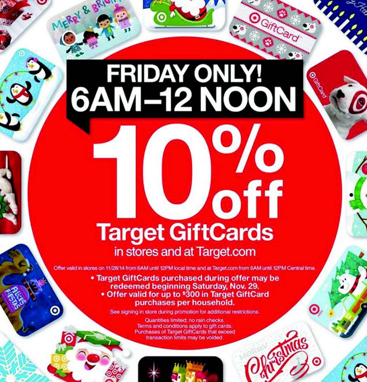 Target Gift Cards 10% Off on Black Friday 2015 — My Money Blog