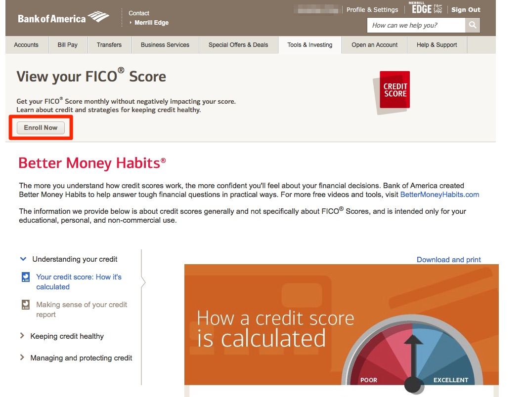 Free FICO Score from Bank of America Credit Cards — My Money Blog