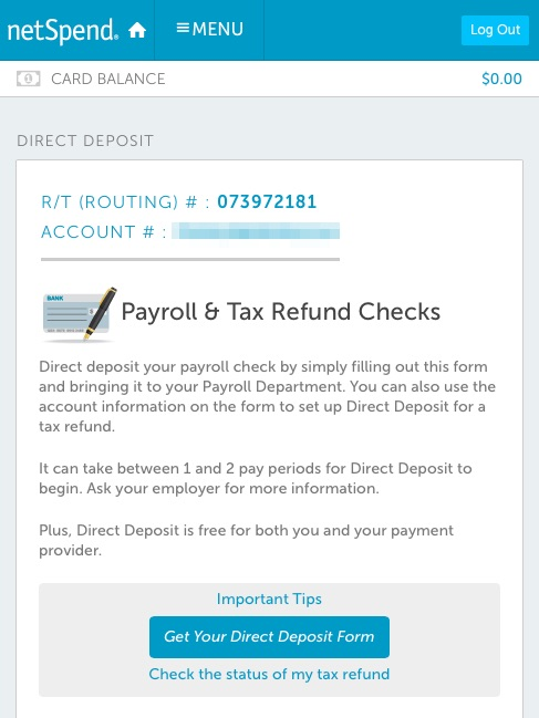netspend direct deposit form Netspend Card 5% APY Savings Account Review — My Money Blog