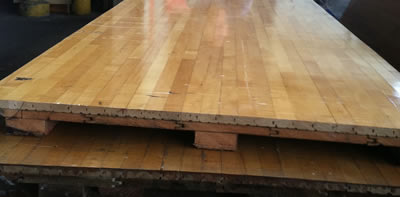 Diy dining table from reclaimed building materials for How to build basketball court