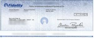 401k rollover check