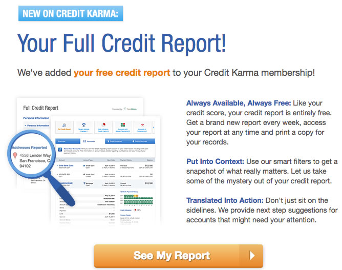 My Free Credit Report >> Credit Karma Offers Free Full Credit Reports Updated Weekly My