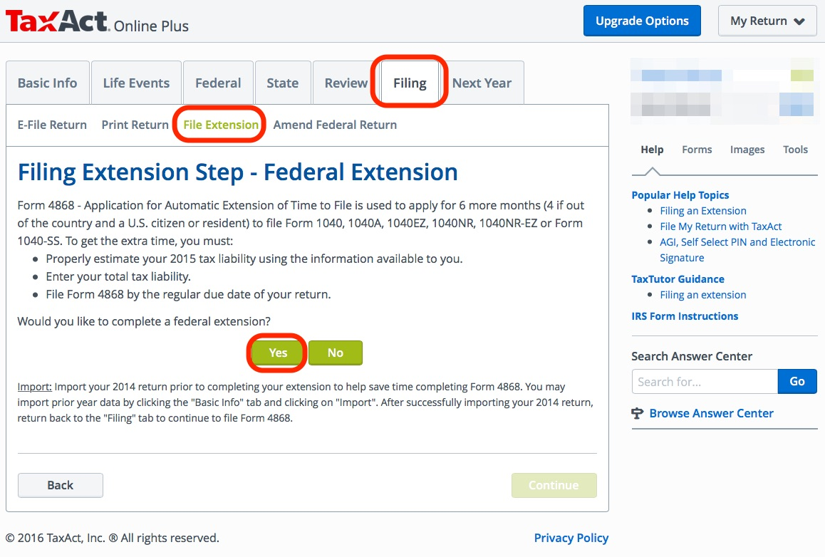 E-File Federal and State Tax Extension Online For Free (Updated 2018 ...