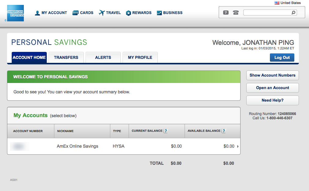 American Express Online Savings >> American Express Personal Savings Account Review Updated