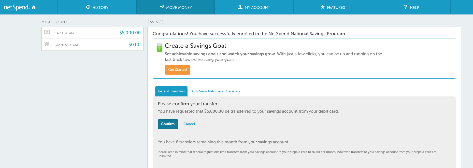 netspend card 5% apy savings account review — my money blog