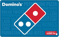 Domino's Pizza Gift Cards: 25% Cash Back