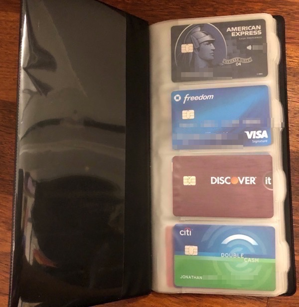 Organize Credit Cards Physically Using Business Card Holders